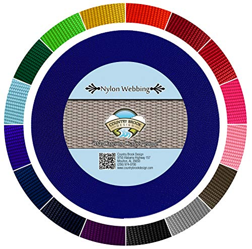 Country Brook Design - Bright Royal Blue 1 1/2 Inch Heavy Nylon Webbing (5 Yards)