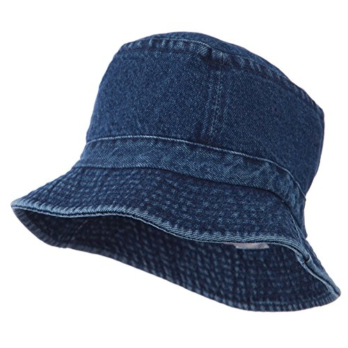 Youth Pigment Dyed Bucket Hat-Denim -