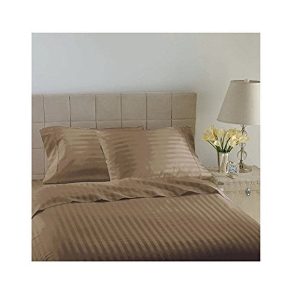 Hotel Luxury Reserve Collection 600 Thread Count Sheet Set - Queen - LATTE SOLID
