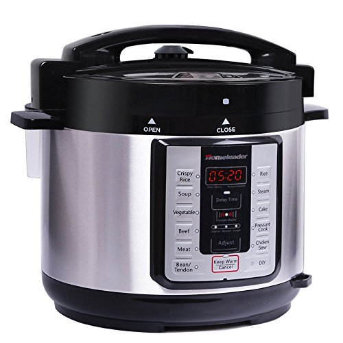 Homeleader 7-in-1 Multi-Use Programmable Pressure Cooker, Digital Electric Pressure Cooker,Slow Cooker, Rice Cooker, Soup Cooker, Steamer and Warmer,5Qt Stainless Steel Pot