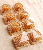 Hewnda 50 Pack of Clear plastic mini cake box