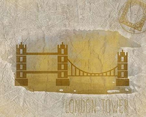 24 x 30 A Day in London A Poster Print by Kimberly Allen