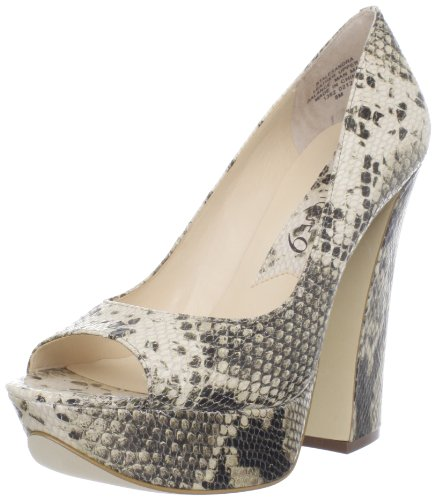 Boutique 9 Women's Alesandra Peep-Toe Pump,Light Natural Leather,10 M US (Ivory Leather Peep Toe Pumps)