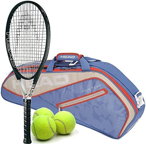 HEAD Titanium Ti S6 Extended/Oversized 16x19 Tennis Racquet Starter Set or Kit Starter Set or Kit Bundled with a Tour Team Bag and (1) Can of 3 Tennis Balls