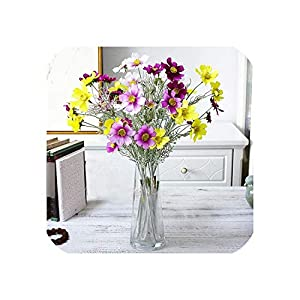 Diremo Artificial Cosmos Flowers Silk Real Touch Fake Flowers Wedding Bride Hand Floral Bouquet for Party Home Garden Decoration 74