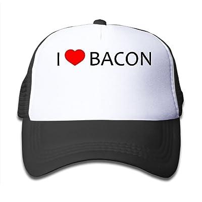 e9bf057fb1749 Caps VF4 Heart Bacon Kids AdjustableTrucker Visor Cap Infant Trucker Hat
