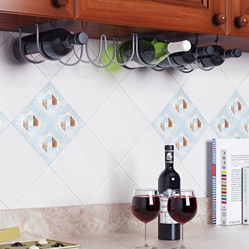 Under-Cabinet-3-Wine-Bottle-Rack-Stainless-Steel-Metal-Wire