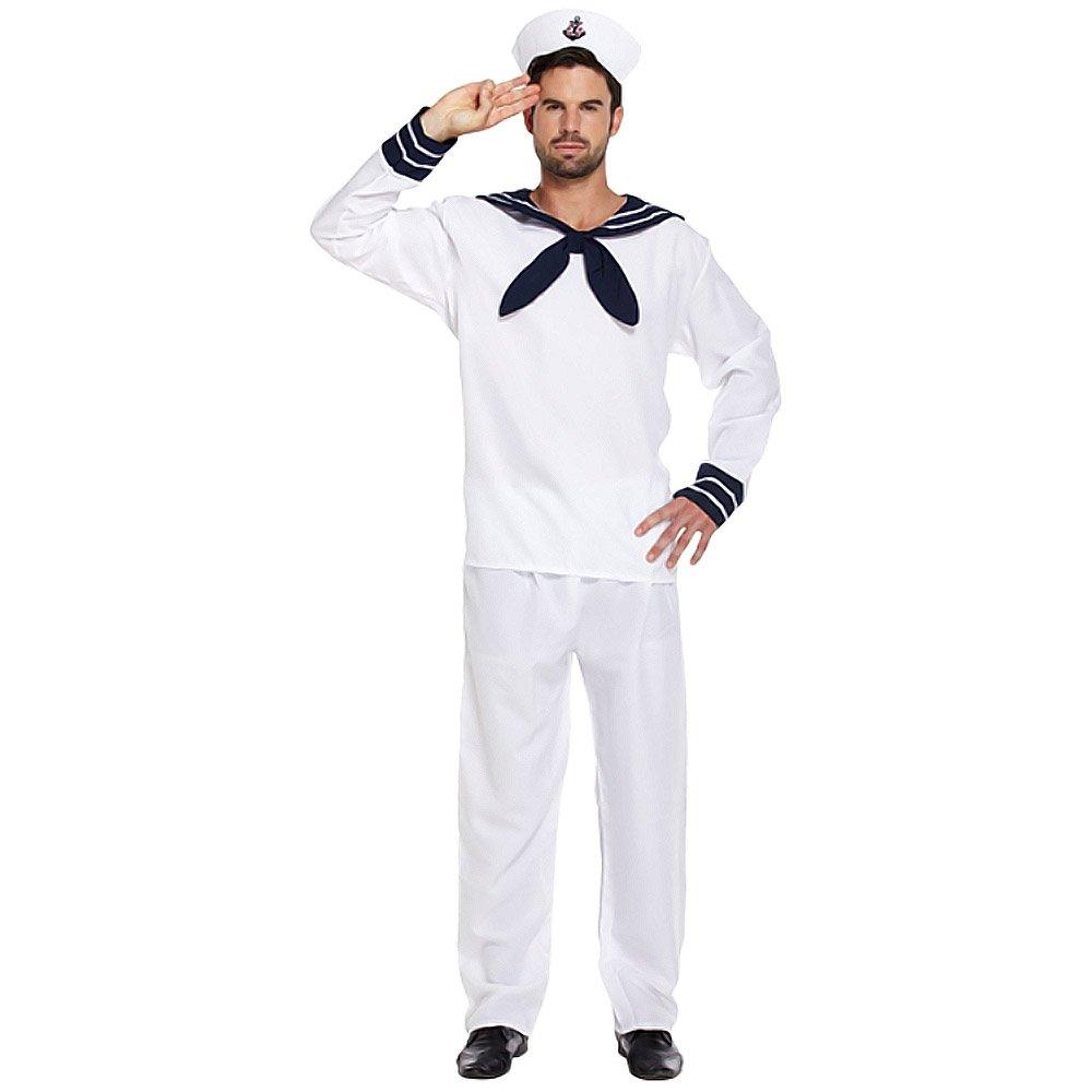 e07e0232f305 MENS ADULT AHOY SAILOR MATE FANCY DRESS OUTFIT COSTUME STD  Amazon ...