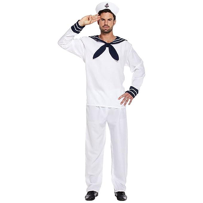 Costume Fancy Dress Da Marinaio (Bianco)  Amazon.it  Giochi e giocattoli 141ea484656f