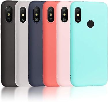 Wanxideng 6 x Funda para Xiaomi Mi A2 Lite, Carcasa en Silicona ...