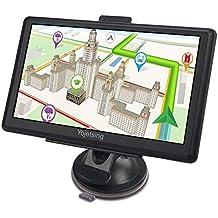 [Patrocinado] YoJetSing GPS Navigation for Car,Truck GPS 7 Inch HD GPS Navigator, Built-in 256MB+8GB Vehicle Navigation System, Voice Reminding, Free Lifetime Maps(Pre-Installed USA+Canada+Mexico)