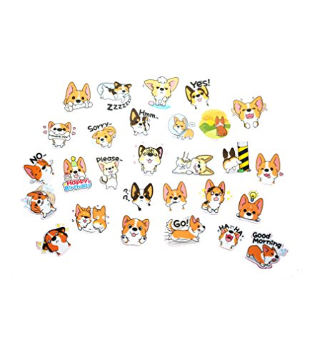 Corgi Theme Plastic LINE Sticker Set (Set 1)