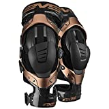 EVS Sports Black/Copper Axis Pro Knee Brace Size X-Large Pair Made for Lightweight Comfort and Flexibility AXISP-BK/COP-XP
