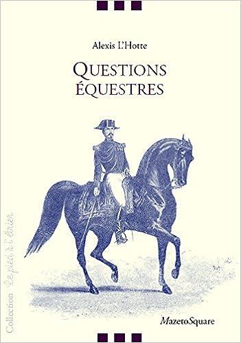 Questions équestres pdf, epub ebook