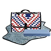 Dete Foldable Waterproof Baby Diaper Changing Mat Portable Changing Pad for Travel Kit and Wipes Case (Triangle)