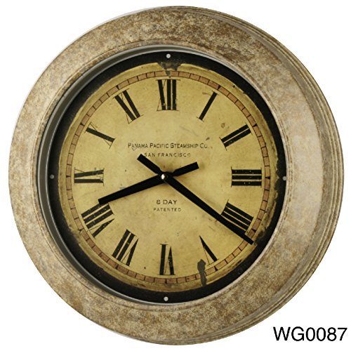Vintage Stylish  Made Heavy Metal Wall Clock Home Decor