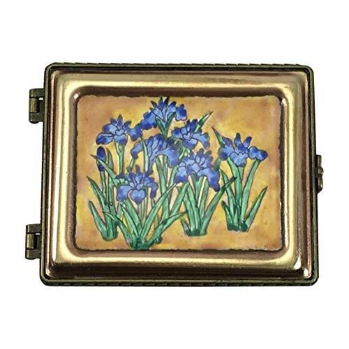 Kelvin Chen Jewelry Box, Japanese Iris Enameled Miniature Organizer
