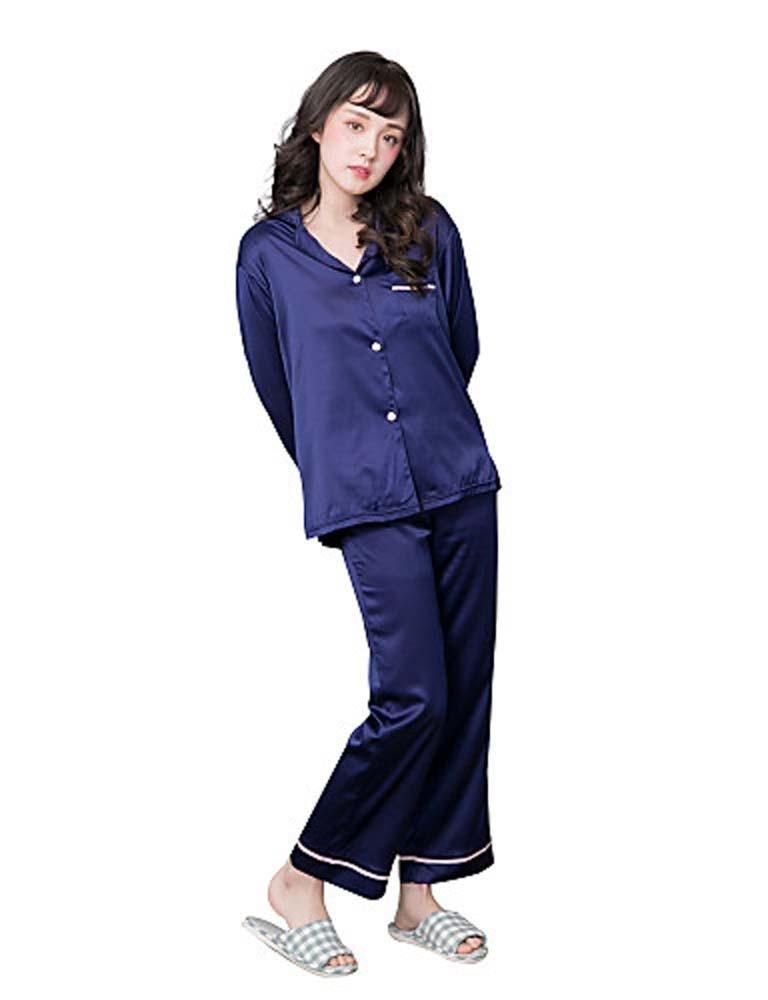 WWQY Women's Satin Pajama , blue , s