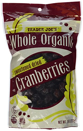 Trader Joe's Whole Organic Sweetened Dried Cranberries 8 Oz. Whole Cranberries