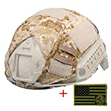 OSdream Tactical Military Helmet Covers Camouflage Cover Airsoft Paintball Shooting Helmet Accessory Only A Cover and Armband without Helmet (SS Camo)