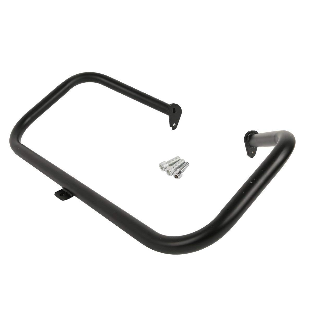 XFMT Black Motorcycle Engine Saddlebag Highway Guard Crash Bar Compatible with Harley Touring Electra Glide FLHT HD Road King FLHT 1997-2008