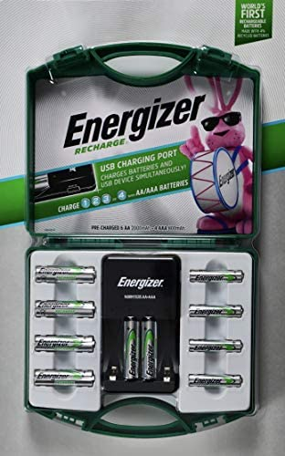 Energizer Recharge, 6 AA and four AA Rechargeable Batteries with 1 Charger