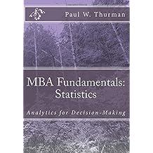 MBA Fundamentals:  Statistics