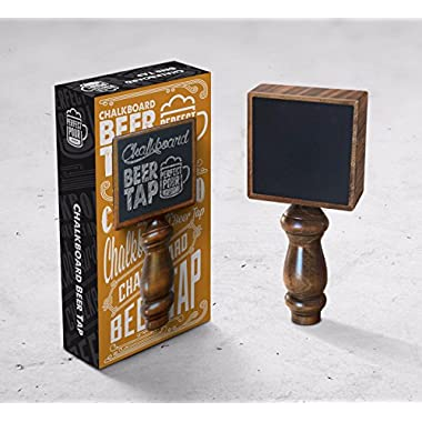 Perfect Pour Chalkboard Beer Tap Handle Display Made of Wood for Kegerator