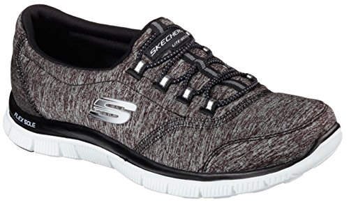 Appeal White Skechers Blue Black Flex 12441 Navy Breaker Light Trainers Record wvvrqE