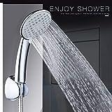 MOVEmen Shower Head Hand Shower High Pressure Adjustable Shower Head Top Spray Outdoor Irrigation Garden Shower Temperature Control Watering Device Bathroom Water Saver Overhead Shower