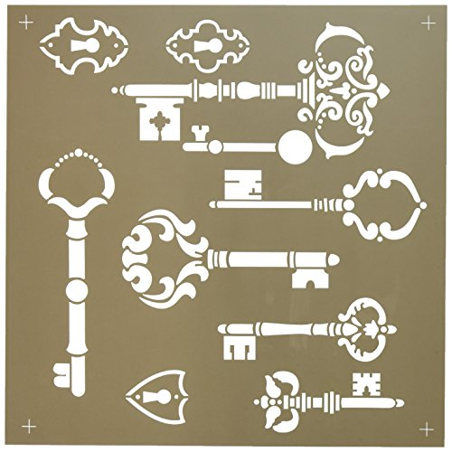 DecoArt ADS-06 Americana Decor Stencil, Vintage Keys