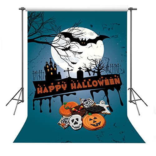 FUERMOR Photo Background 5X7ft Halloween Theme Photography Backdrop For Party Props Y204 -