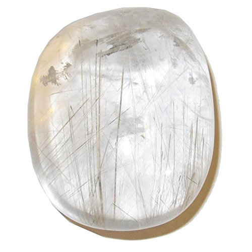 Quartz Polished Stone Rutilated 52 Nice Clear Gold Spindle Master Healing Crystal 1.8