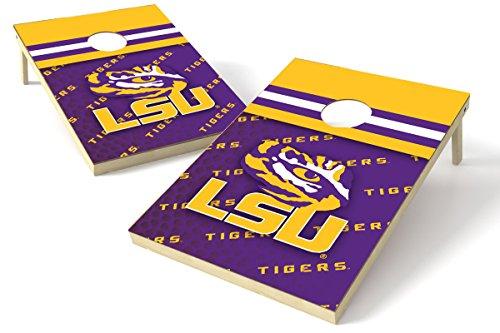 (PROLINE NCAA College 2'x3' LSU Tigers Cornhole Set - Pigskin Design)