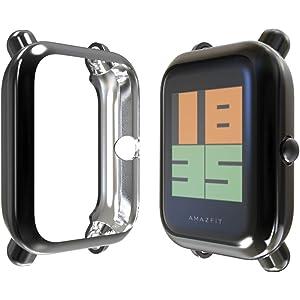 Amazon.com: Kmasic Compatible Amazfit Bip Case,2-Pack TPU ...