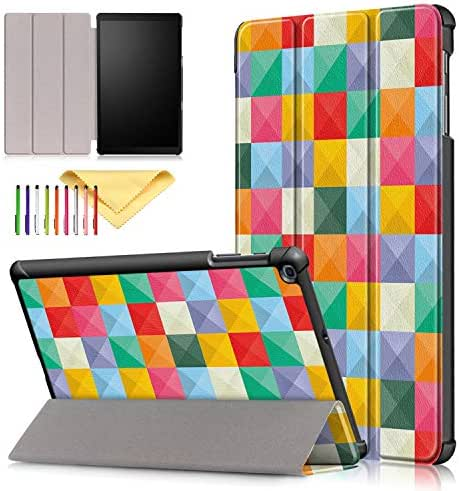Case for SM-T510/T515, Galaxy Tab A 10.1 Inch 2019 Cover, Cookk Ultra Lightweight Slim Folding Stand Skinshell Case Compatible with Samsung Galaxy Tab A 10.1