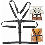 Highchair Replacement Harness, Baby Harness for Stroller, 5 Point Harness Baby,Universal Baby Safe Belt Holder Replacement for Stroller Wooden High Chair Pram Buggy Children Kid Pushchair