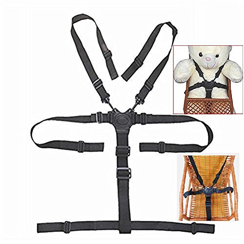 Highchair Replacement Harness, Baby Harness for Stroller, 5 Point Harness Baby,Universal Baby Safe Belt Holder Replacement for Stroller Wooden High Chair Pram Buggy Children Kid Pushchair (Seat Belt High Chair)