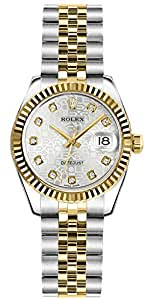 Women's Rolex Gold and Stainless Steel 26mm Diamond Watch