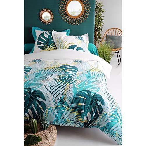 J/&K Markets Kayapo Tropical 100/% algod/ón de 57 Hilos Funda n/órdica de 220 x 240 cm y 2 Fundas de Almohada