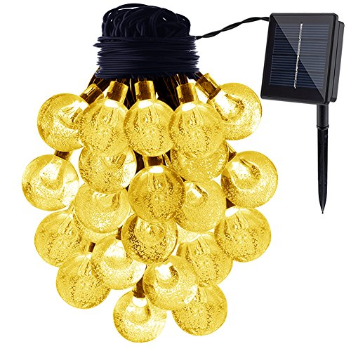 Yellow Solar Sun Jar Lamp in US - 2