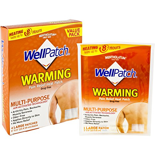 - WellPatch Warming Pain Relief Heat Patch, 4 large patches, 5