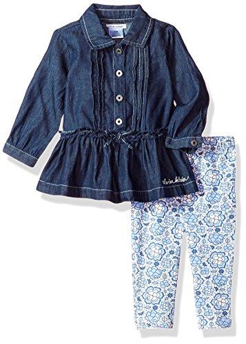 Calvin Klein Baby Girls' Tunic Legging Set, Denim Blue ()