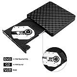 External CD Drive, BEVA Portable Slim USB 3.0 DVD