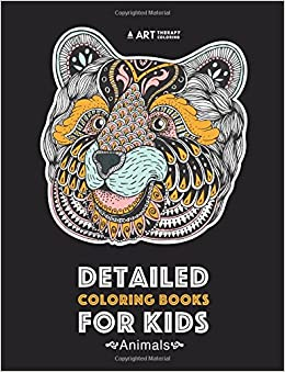 Detailed Coloring Books For Kids: Animals: Advanced Coloring Pages ...