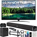 LG 65SM8600PUA 65-inch 4K HDR Smart LED NanoCell TV with AI ThinQ (2019) Bundle with Deco Gear 60W Soundbar with Subwoofer, Wall Mount Kit, Deco Gear Wireless Keyboard and 6-Outlet Surge Adapter