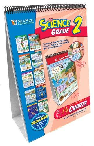NewPath Learning 10 Piece Science Curriculum Mastery Flip Chart Set, Grade 2