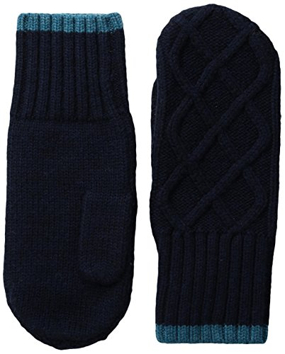 Ibex Outdoor Clothing Cable Sweater Mitten, Midnight Heather, Medium/Large