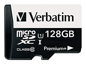 Verbatim 128GB PremiumPlus 533X microSDXC Memory Card with Adapter, UHS-I Class 10, 99142