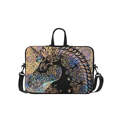 InterestPrint Animal Unicorn Laptop Sleeve Case Bag, Bohemia
